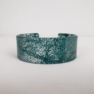 Color By Amber Green Cuff Bracelet